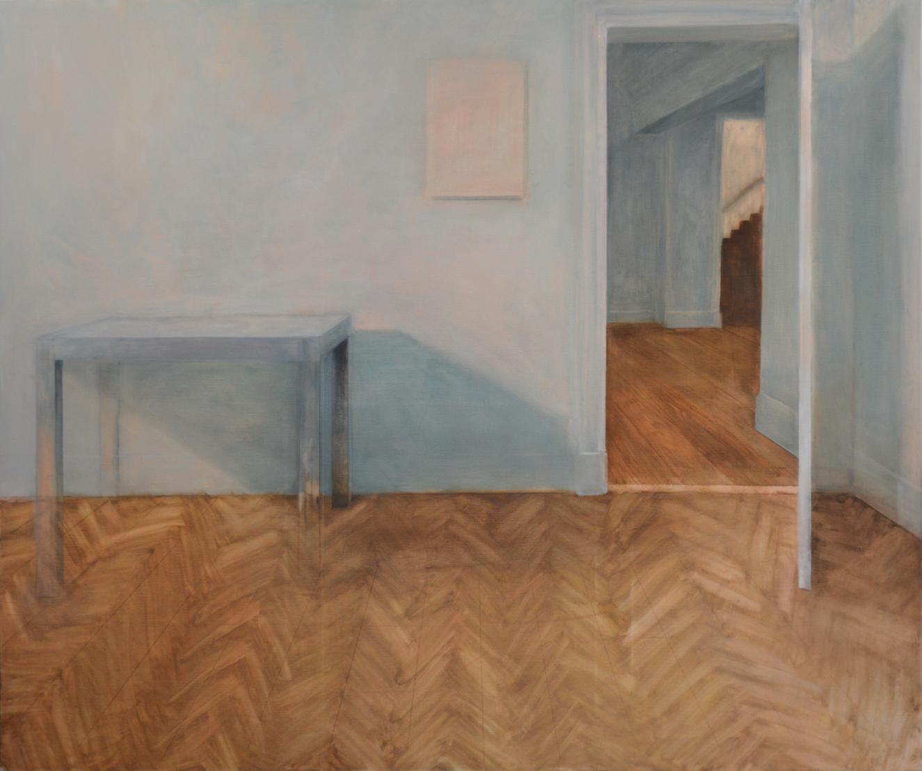 44 rue de Moscou, 2015, 146 x 173 cm, huile sur toile