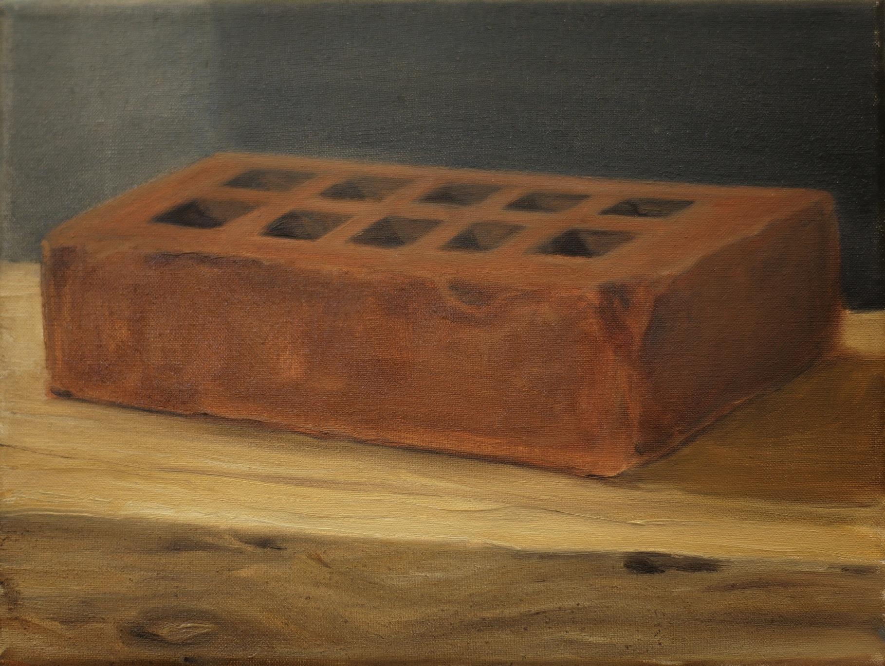 Terre de sienne brûlée, 2014, 24 x 18 cm, huile sur toile