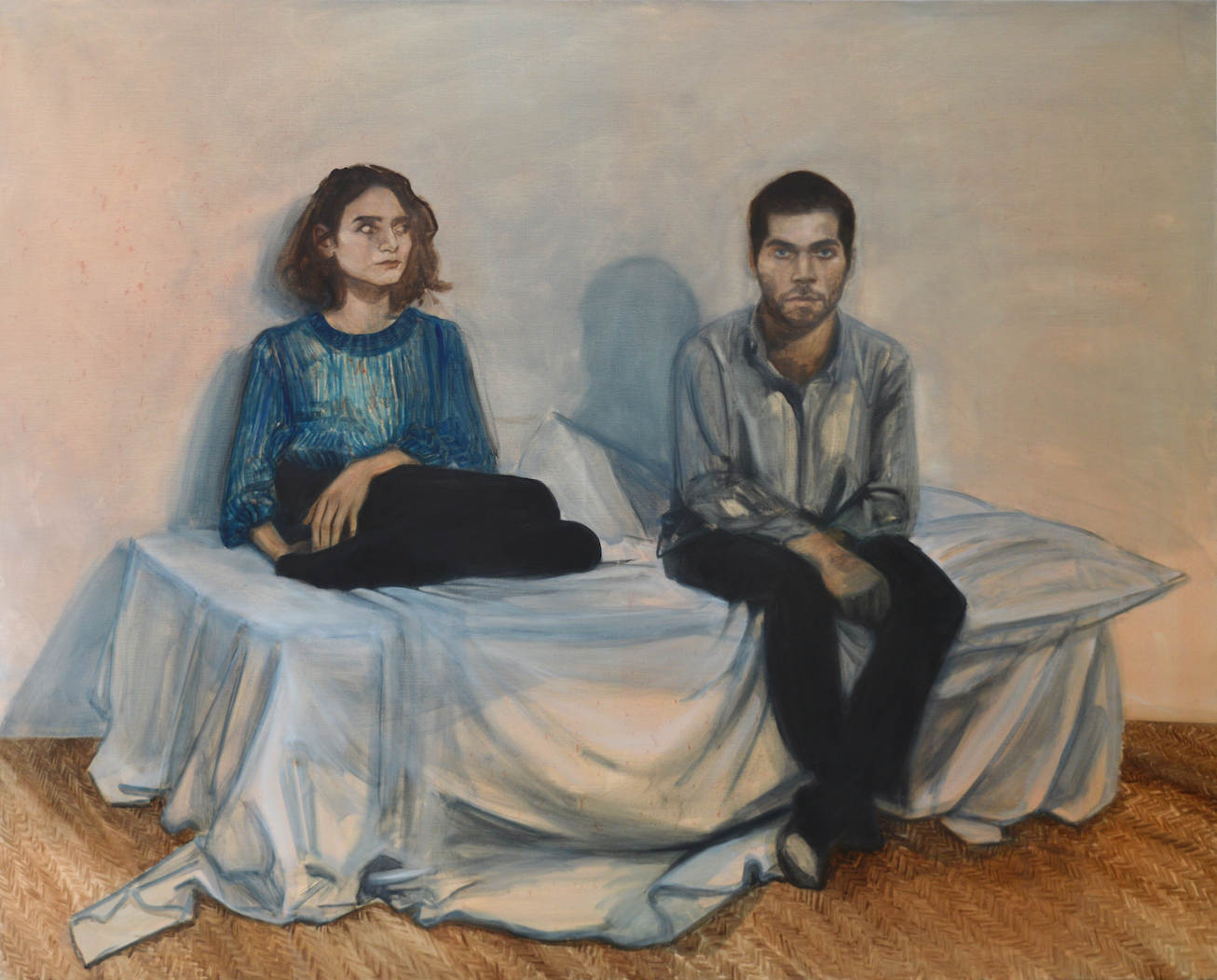 Simon et Christine, 2016, 162x130 cm, huile sur toile