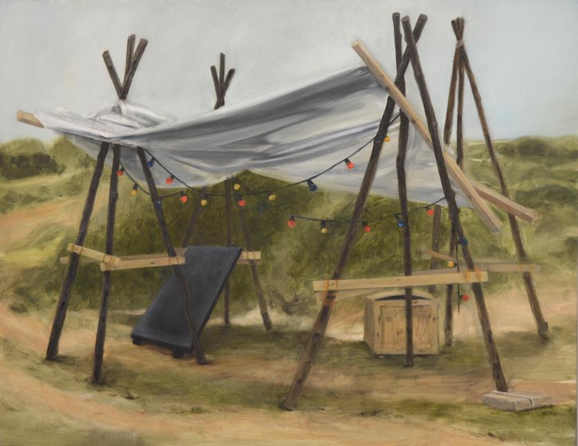 Tzahalon, 2014, 114 x 146 cm, huile sur toile