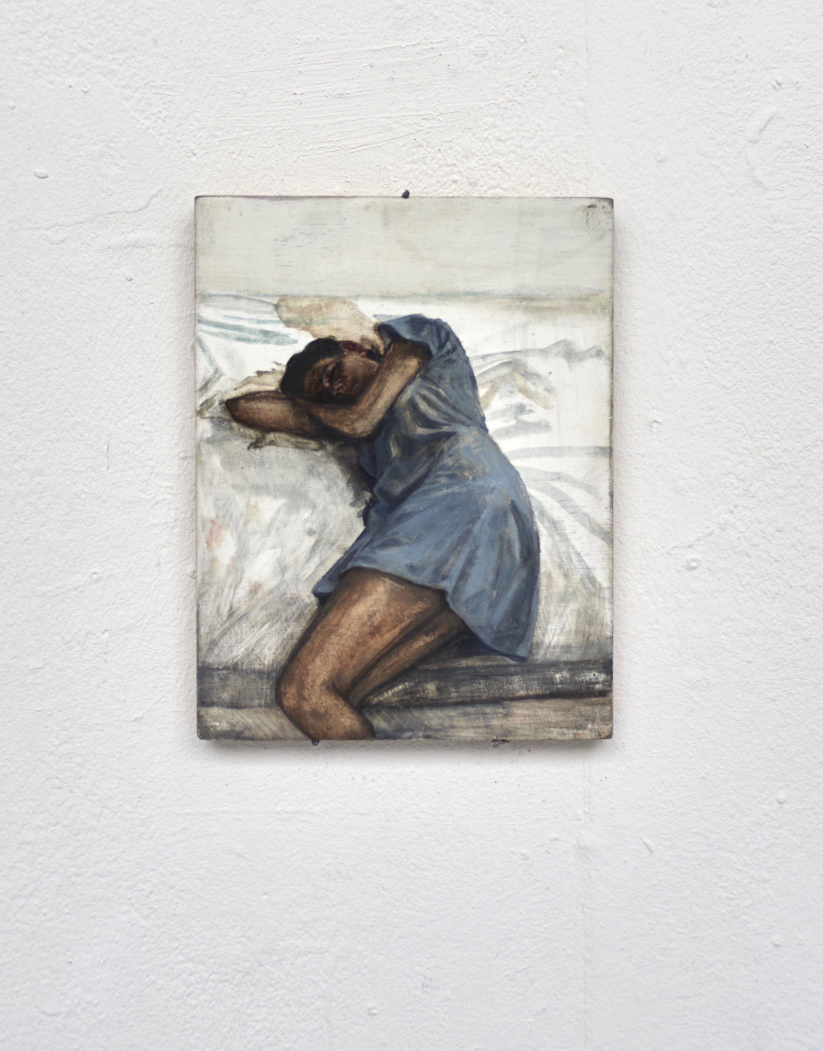 Sœur, 2015, 25 x 18 cm, huile sur bois