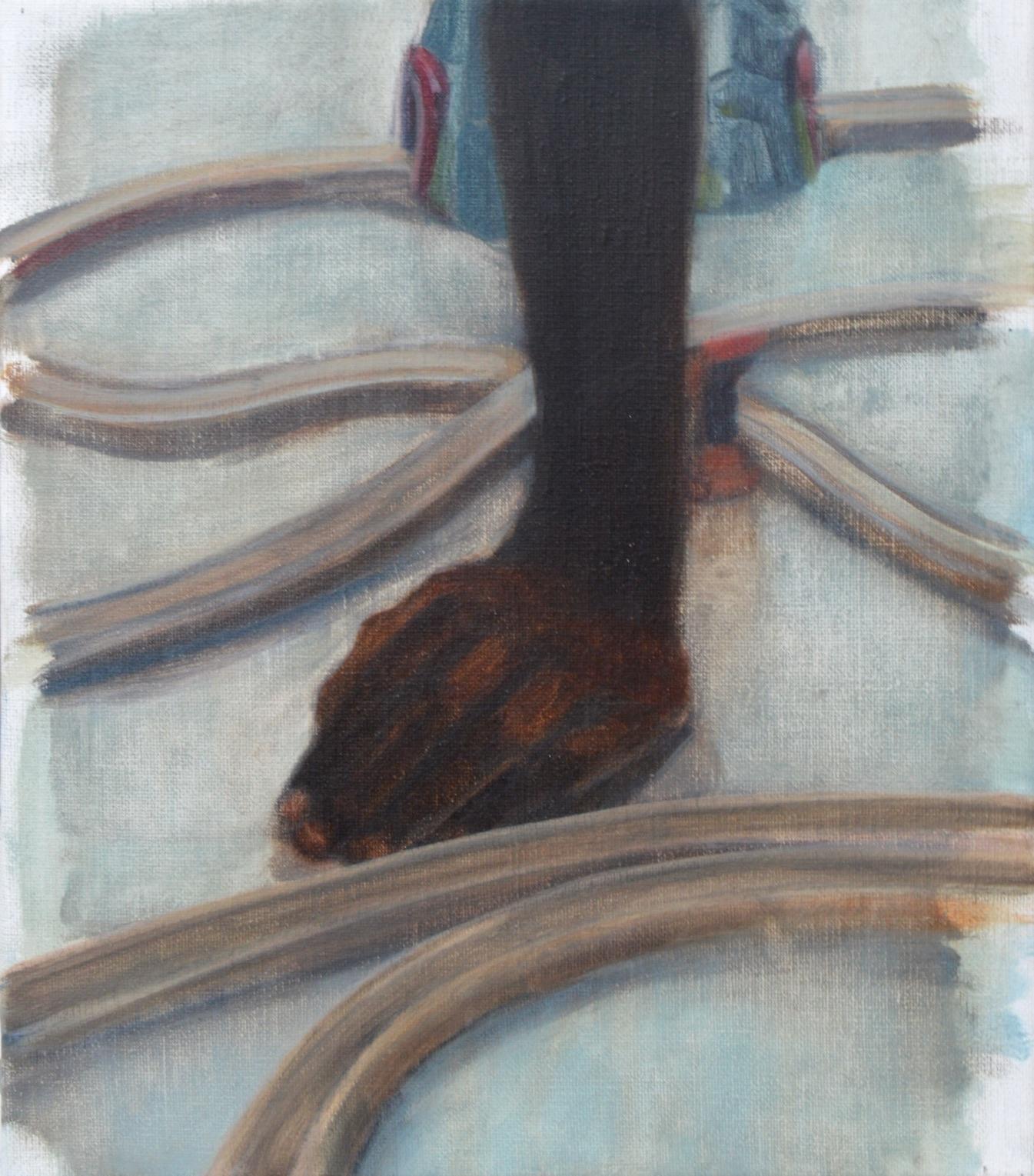 Parcours, 2015, 30 x 24 cm, huile sur toile
