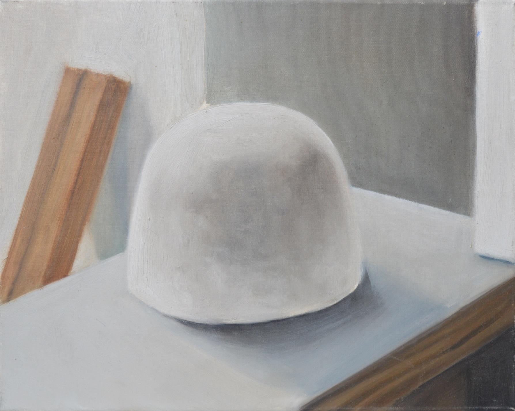 Enceinte, 2013, 24 x 18 cm, huile sur toile