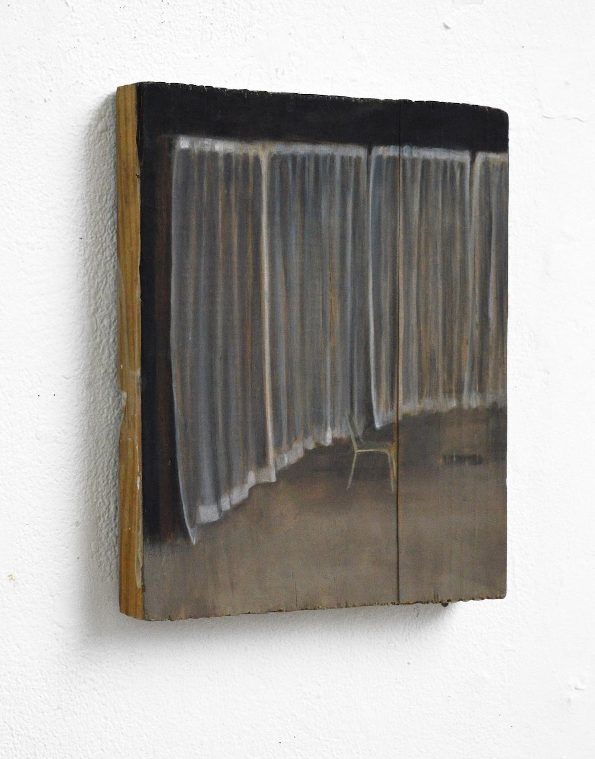 Juste milieu, 2015, 35 x 24 cm, huile sur toile
