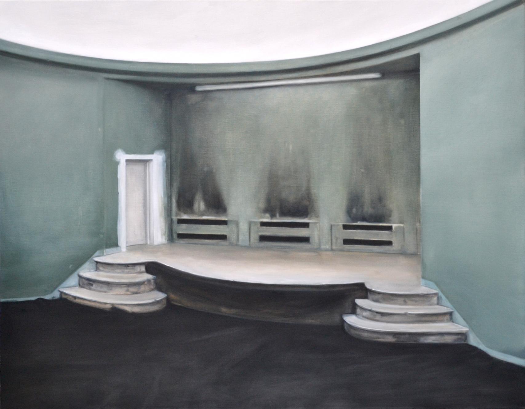 Salle 37, 2014, 114 x 146 cm, huile sur toile