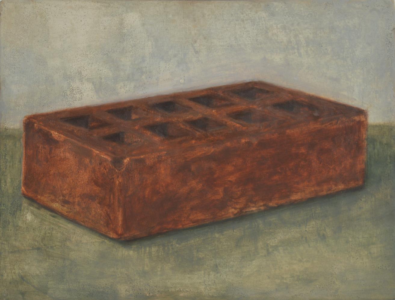 Brick, deuxieme version, 2017, 22 x 27 cm, huile sur bois
