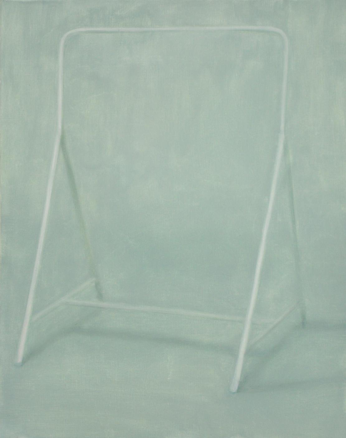 Portant, 2017, 92x73cm, huile sur toile