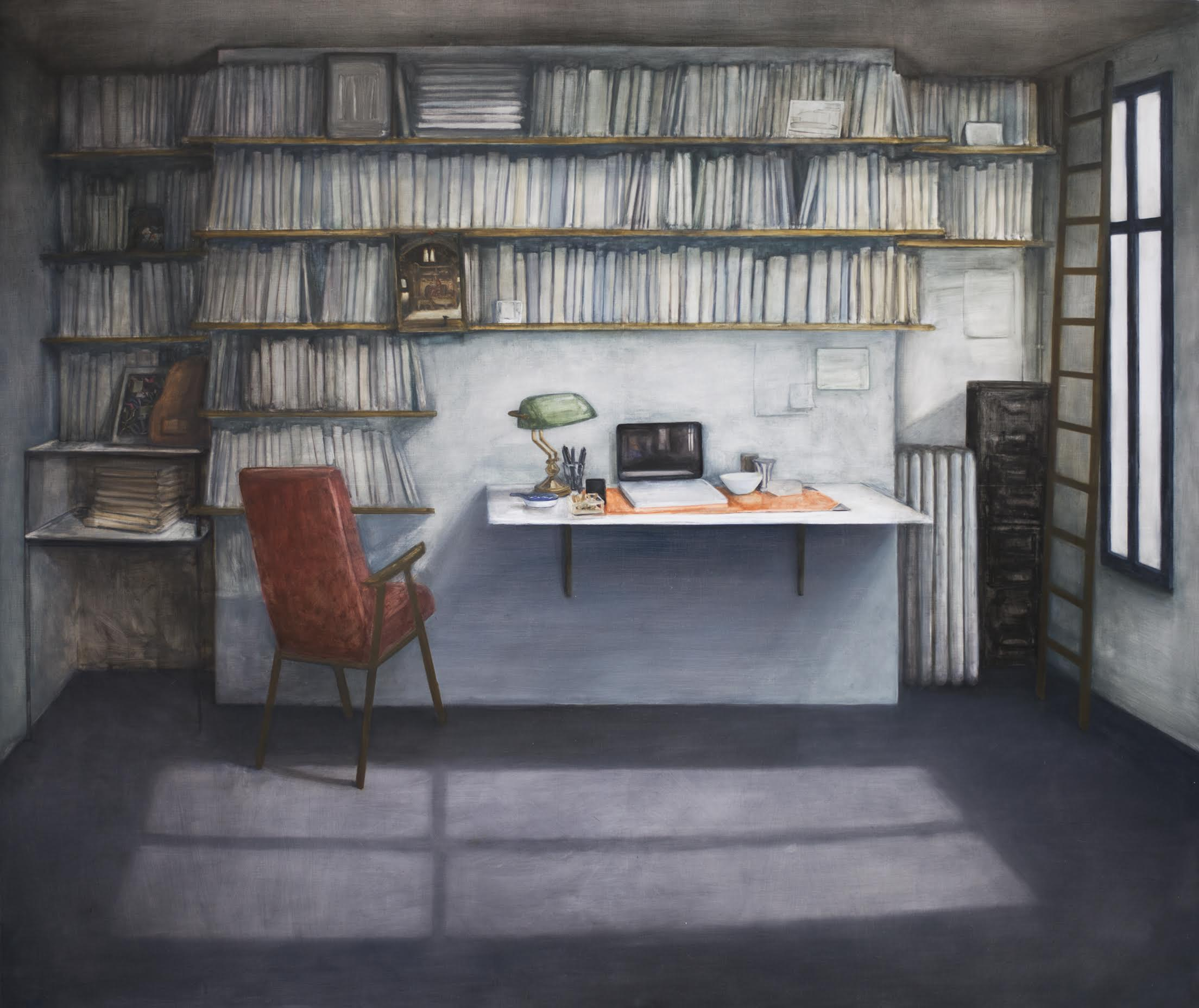 Les choses, Perec, 2017, 195 x 165 cm, oil on canvas