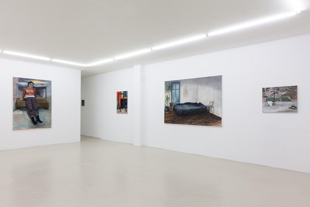 Vue de l'exposition VERSION 2018 Galerie Jousse Entreprise