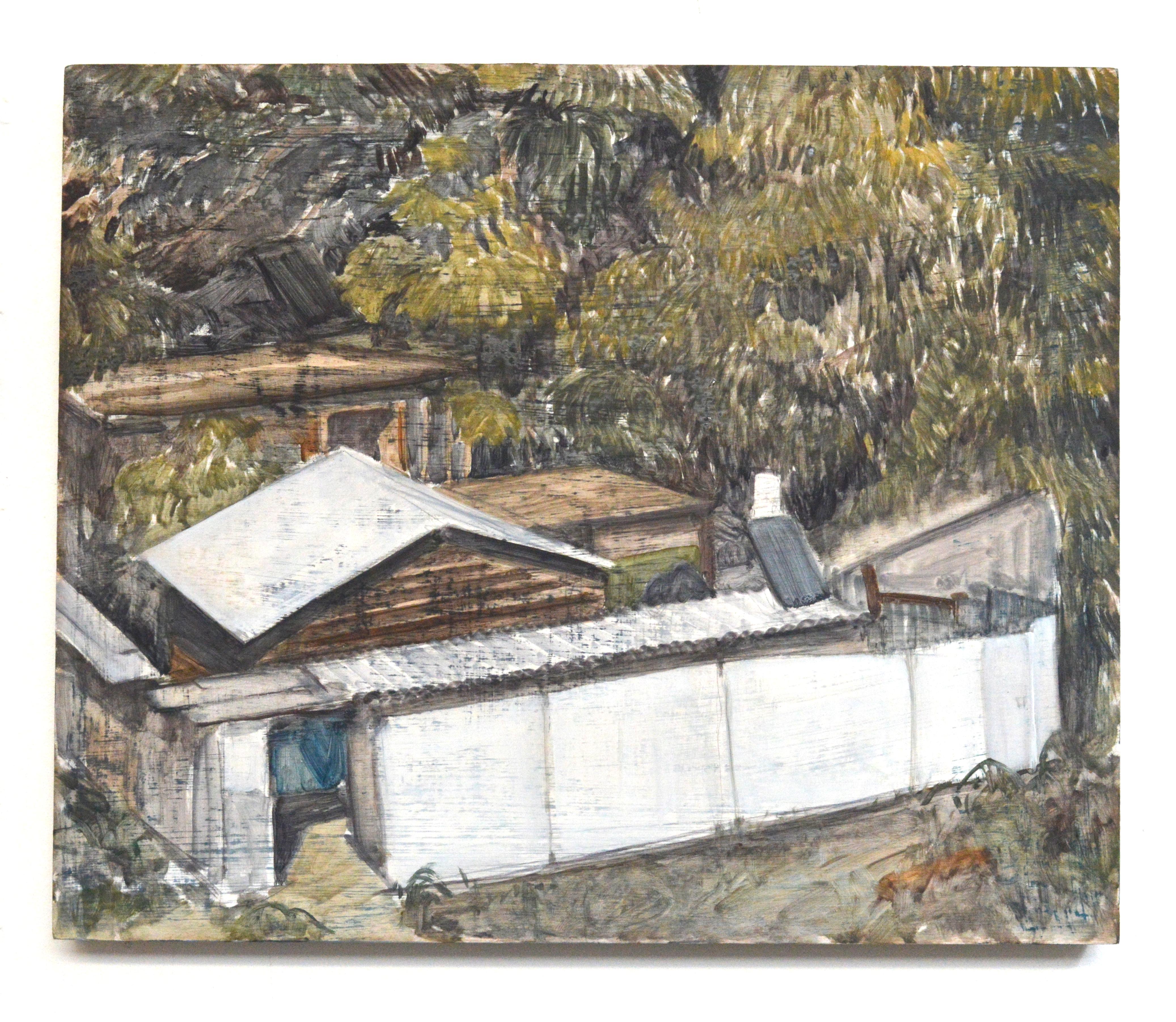 Haargazim, 2018, 38 x 46 cm, oil on wood