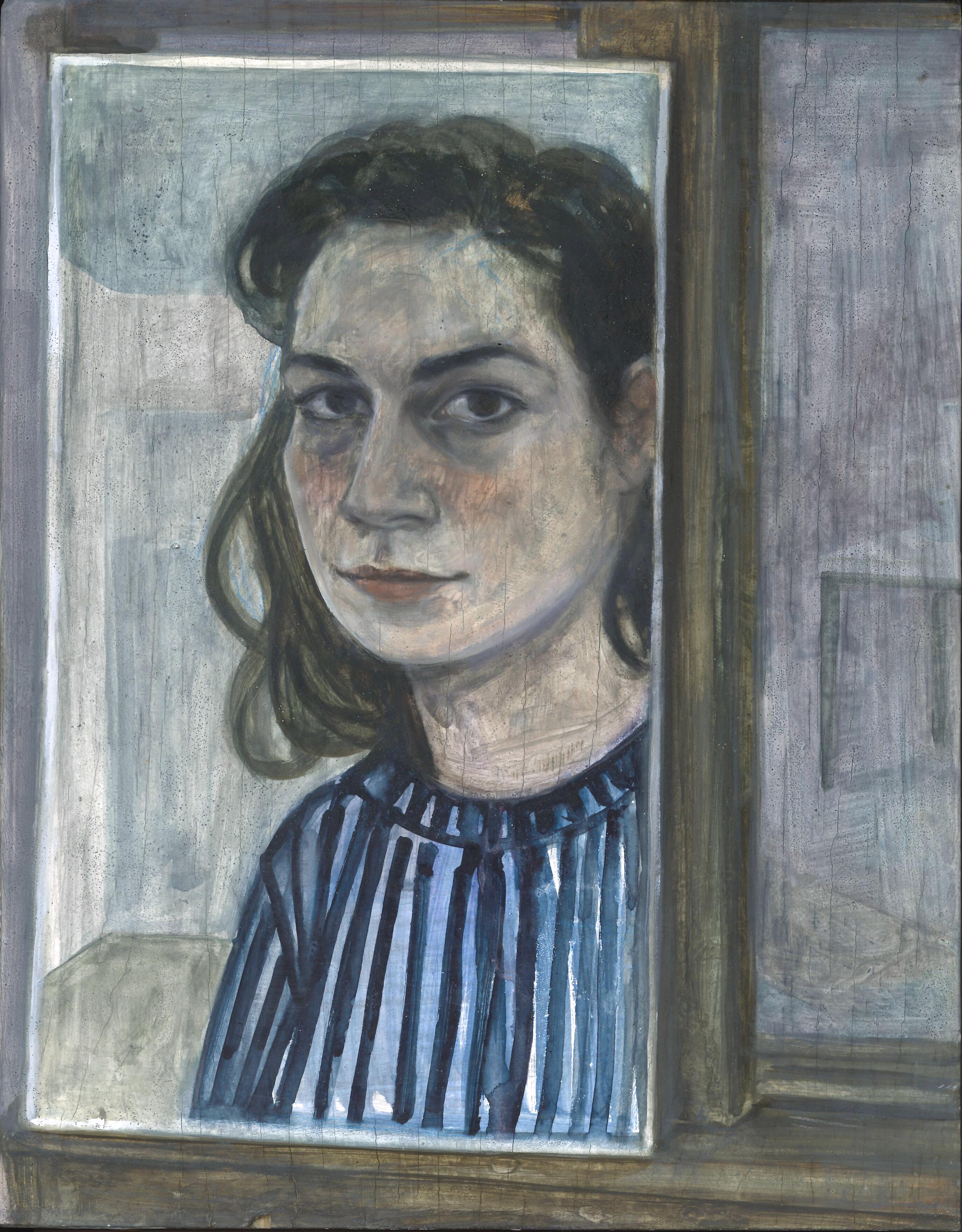 Auto portrait, 2018, 21 x 29 cm, huile sur bois