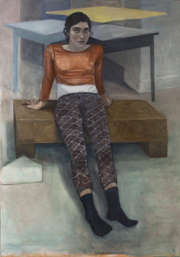 Eléné, 2017, 162x114 cm, huile sur toile. photo par LionelSamain 2