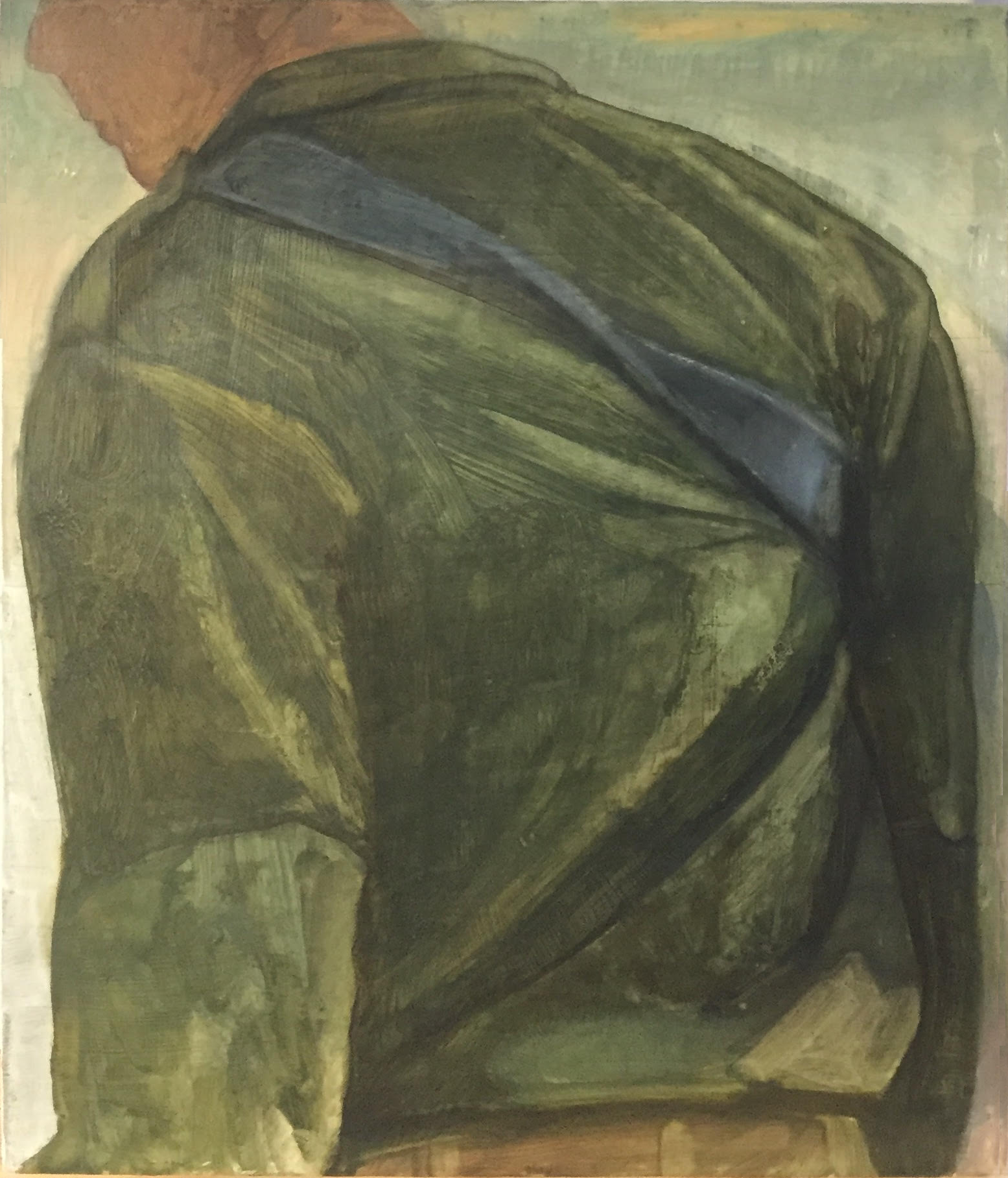 Soldier, 2018, 34 x 38 cm, oil on wood